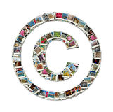 Copyright sign -  illustration made like collage Royalty Free Stock Images