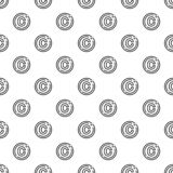 Copyright sign pattern seamless vector stock illustration