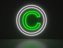 Copyright Sign - Series Neon Signs Royalty Free Stock Photography