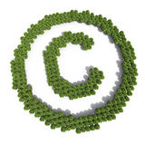 Copyright sign shaped trees Stock Photos