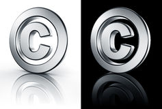 Copyright sign on white and black floor Stock Image