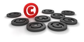 Copyright signs Royalty Free Stock Photo