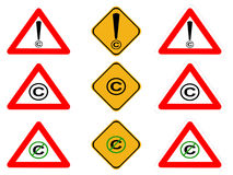 Copyright signs Stock Photos