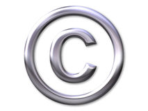 Copyright – silver bevel Stock Image