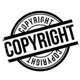 Copyright stamp rubber grunge Royalty Free Stock Image