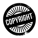 Copyright stamp rubber grunge Stock Image