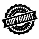 Copyright stamp rubber grunge Stock Photos
