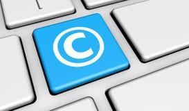 Copyright Symbol Computer Keyboard Stock Image