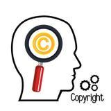 copyright symbol design Royalty Free Stock Photos