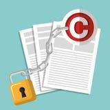 Copyright symbol design Stock Photo