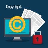 Copyright symbol design Stock Image