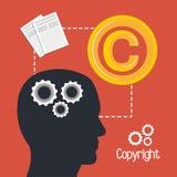 Copyright symbol design Royalty Free Stock Photo