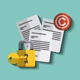 Copyright symbol design Royalty Free Stock Photography