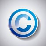 Copyright symbol design Royalty Free Stock Image