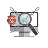 copyright symbol design Royalty Free Stock Images