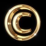 Copyright symbol med den snabba banan royaltyfri illustrationer