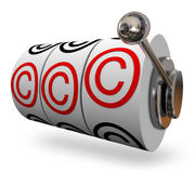 Copyright Symbol Slot Machine Words Three C Letters Stock Photo
