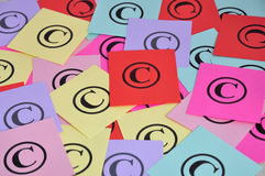 Copyright symbols Stock Photo