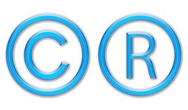 Copyright symbols Royalty Free Stock Photography