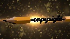 Copyright todos os direitos reservados Direitos do escritor e do artista ilustração stock