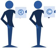 Copyright and trademark stock illustration