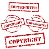 Copyright und urheberrechtlich geschütztes Stempelset Lizenzfreie Stockfotos