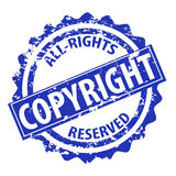 Copyright vector stamp Royalty Free Stock Images