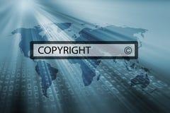 Copyright w rewizja barze wyszukiwarka ilustracja wektor