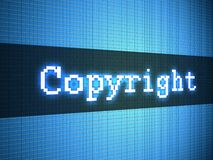 Copyright word on display Royalty Free Stock Image