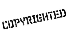 Copyrighted stamp rubber grunge Stock Images
