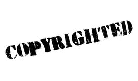 Copyrighted stamp rubber grunge Stock Image