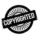 Copyrighted stamp rubber grunge Royalty Free Stock Photos