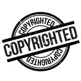 Copyrighted stamp rubber grunge Royalty Free Stock Image