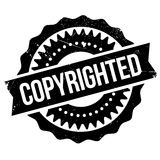 Copyrighted stamp rubber grunge Royalty Free Stock Photo