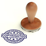 Copyrighted Stamp Showing Patent Or Trademarks Stock Photo