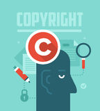 Copyrighting pojęcie ilustracji