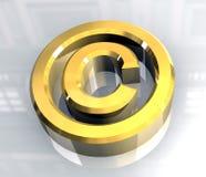 Copyrightsymbol im Gold (3d) Lizenzfreies Stockfoto