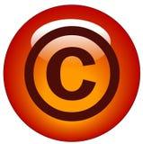 Copyrighttaste oder -ikone stock abbildung
