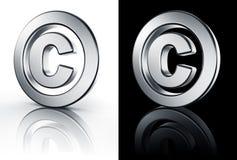 Copyrightzeichen auf weißem und schwarzem Fußboden Stockbild