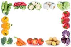 Copyspa delle patate della lattuga del peperone dolce dei pomodori delle carote delle verdure Fotografie Stock