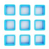 Copyspace多维数据集正方形查出的架子配件箱 库存例证