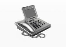 copyspace τηλέφωνο γραφείων μοντέρ& Στοκ Εικόνα
