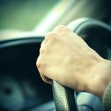 copyspace автомобиля управляя взглядом обеспеченным внутренностью Стоковая Фотография