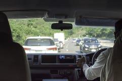copyspace автомобиля управляя взглядом обеспеченным внутренностью Стоковая Фотография RF
