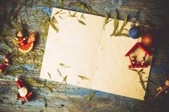 Copyspace поздравительной открытки рождества Стоковые Фотографии RF