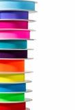 堆五颜六色的丝带 免版税图库摄影