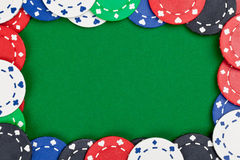 赌博娱乐场芯片 库存图片