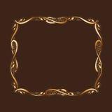 Χρυσό πλαίσιο με Copyspace Στοκ Εικόνες