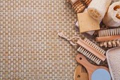 Copyspace background big set of classical bathroom Stock Photo