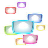 Copyspace background made of light boxes Royalty Free Stock Photos